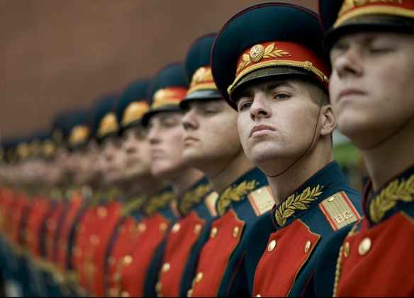 russian honor guards